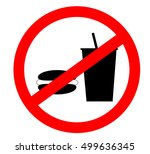 prohibition sign icon.no eating ... | Shutterstock .eps vector #499636345
