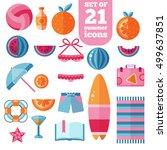beach summer holiday vacation...   Shutterstock . vector #499637851
