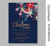 christmas party invitation with ... | Shutterstock .eps vector #499642951