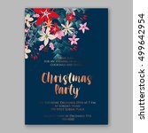 christmas party invitation with ... | Shutterstock .eps vector #499642954
