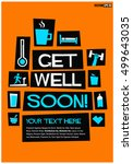 get well soon   flat style... | Shutterstock .eps vector #499643035