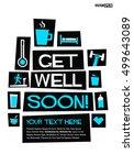 get well soon   flat style... | Shutterstock .eps vector #499643089