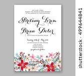 poinsettia wedding invitation... | Shutterstock .eps vector #499644841
