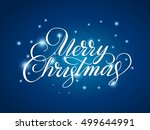 merry christmas lettering over... | Shutterstock .eps vector #499644991