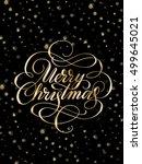 shiny golden merry christmas... | Shutterstock .eps vector #499645021