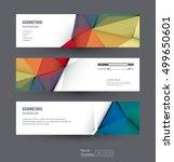 vector abstract banners set... | Shutterstock .eps vector #499650601
