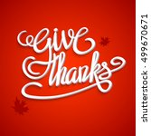 happy thanksgiving day greeting ... | Shutterstock .eps vector #499670671