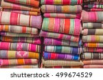 woven blankets at the... | Shutterstock . vector #499674529