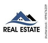 real estate logo | Shutterstock .eps vector #499676209
