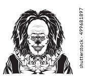 Clown Illustration  Black And...