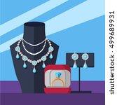 jewelry shop banner. store... | Shutterstock .eps vector #499689931