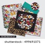 doodles ideas creative patterns ... | Shutterstock .eps vector #499691071