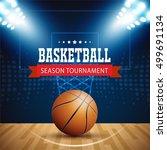 basketball tournament  modern...   Shutterstock .eps vector #499691134