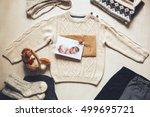 autumn or winter children's... | Shutterstock . vector #499695721