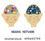 neurons and human emotions... | Shutterstock .eps vector #499695799