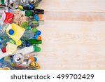 rubbish that can be recycled on ... | Shutterstock . vector #499702429