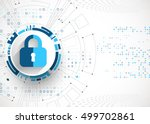 protection concept. protect... | Shutterstock .eps vector #499702861