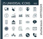 set of 25 universal editable... | Shutterstock .eps vector #499703245