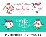 happy new year and merry... | Shutterstock .eps vector #499703761