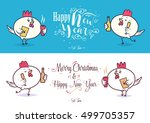 happy new year and merry... | Shutterstock .eps vector #499705357