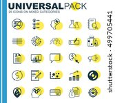 set of 25 universal editable... | Shutterstock .eps vector #499705441
