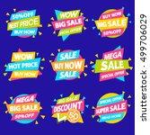 set of sale banner special... | Shutterstock .eps vector #499706029