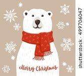 Polar Bear With Merry Christmas ...