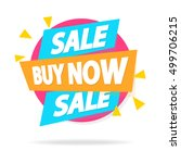 sale banner with sign sale buy... | Shutterstock .eps vector #499706215
