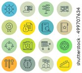 set of project management icons ... | Shutterstock .eps vector #499707634