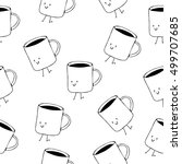 seamless vector pattern with... | Shutterstock .eps vector #499707685