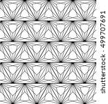 seamless geometric vector black ... | Shutterstock .eps vector #499707691