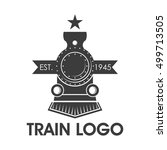 classic train logo  locomotive... | Shutterstock .eps vector #499713505