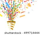 exploding party popper with... | Shutterstock .eps vector #499714444