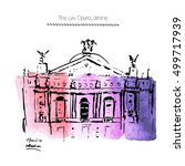 vector illustration of the lviv ... | Shutterstock .eps vector #499717939