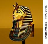 pharaoh death mask | Shutterstock . vector #49971946