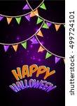 happy halloween for invitation... | Shutterstock .eps vector #499724101