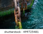 Rusty And Mossy Ship Anchor...