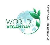 world vegan day emblem   Shutterstock .eps vector #499728199