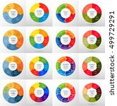 vector circle infographic set.... | Shutterstock .eps vector #499729291