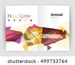 triangle abstract background.... | Shutterstock .eps vector #499733764