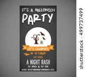 it's a halloween party. let's... | Shutterstock .eps vector #499737499