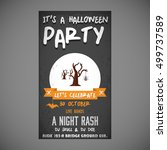 it's a halloween party. let's... | Shutterstock .eps vector #499737589