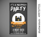 it's a halloween party. let's...   Shutterstock .eps vector #499737721