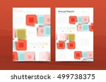 vector colorful square business ... | Shutterstock .eps vector #499738375