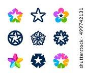 vector star icons  logo design... | Shutterstock .eps vector #499742131