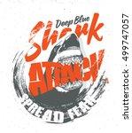 shark. shark attack. t shirt... | Shutterstock .eps vector #499747057