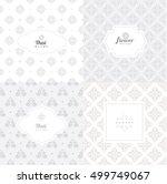 vector mono line graphic design ... | Shutterstock .eps vector #499749067