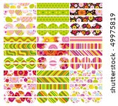 jpg easter set of border ... | Shutterstock . vector #49975819