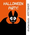 halloween party idea for a... | Shutterstock .eps vector #499758409