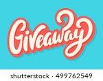 giveaway banner. | Shutterstock .eps vector #499762549
